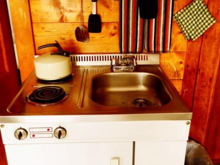 Retro Kitchenette at Barrington Cabin