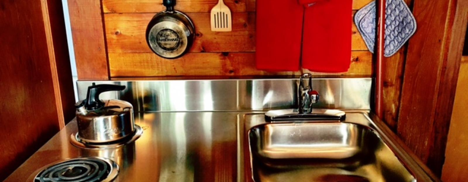 Retro Kitchenette at Appolt Cabin